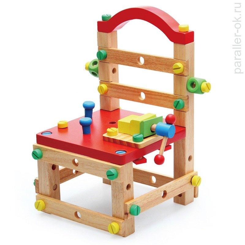 Деревянный конструктор собери стул